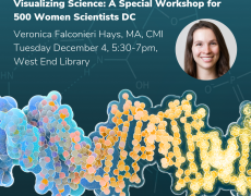 Visual Science Communication Presentation for 500 Women Scientists DC
